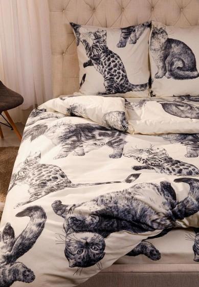 Постельное белье 2-спальное Ночь нежна Барсик за 1 887 ₽. в интернет-магазине Lamoda.ru