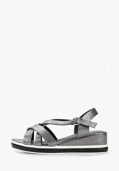 Босоножки, Dino Ricci Trend, цвет: серебряный. Артикул: MP002XW004CL. Обувь