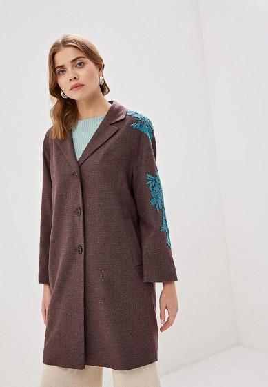 Пальто, Immagi, цвет: коричневый. Артикул: MP002XW02041. Одежда / Верхняя одежда / Пальто