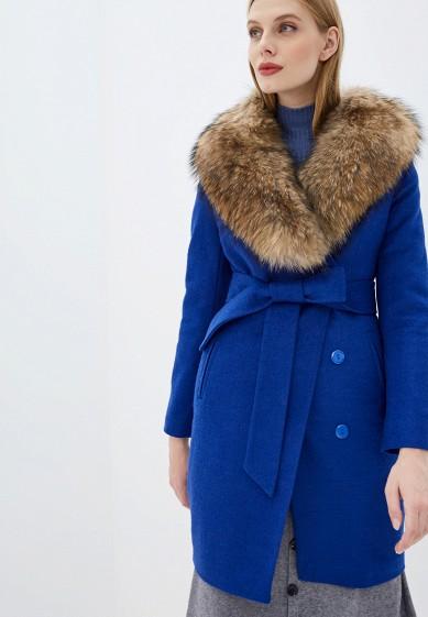 Пальто, Karolina, цвет: синий. Артикул: MP002XW0GV4M. Одежда / Верхняя одежда / Пальто / Зимние пальто