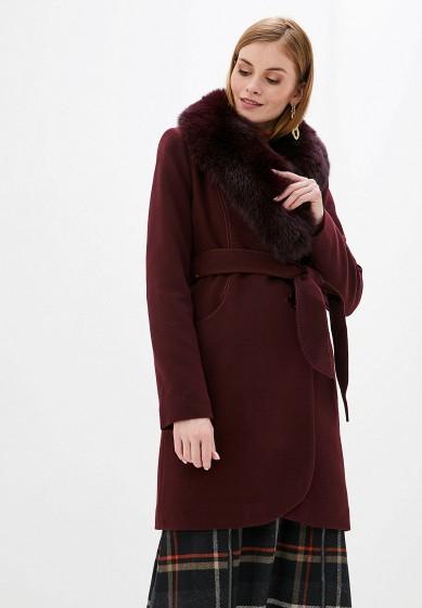 Пальто, Giulia Rosetti, цвет: бордовый. Артикул: MP002XW0GV6F. Одежда / Верхняя одежда / Пальто / Зимние пальто