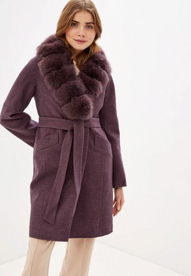 Пальто, Giulia Rosetti, цвет: фиолетовый. Артикул: MP002XW0GV6P. Одежда / Верхняя одежда / Пальто / Зимние пальто