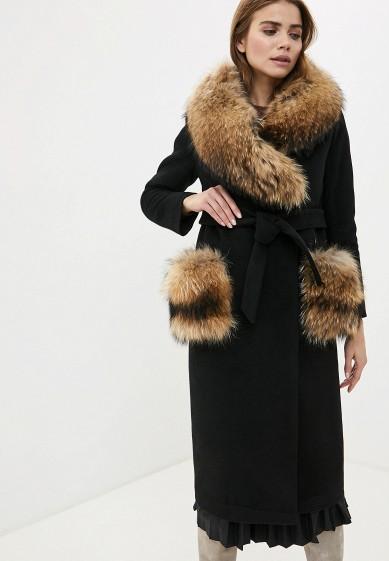 Пальто, Karolina, цвет: черный. Артикул: MP002XW0H0XD. Одежда / Верхняя одежда / Пальто / Зимние пальто