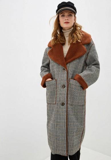 Пальто, Alpecora, цвет: серый. Артикул: MP002XW0H24A. Одежда / Верхняя одежда / Пальто / Зимние пальто