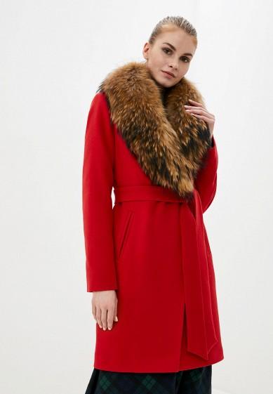 Пальто, Karolina, цвет: красный. Артикул: MP002XW0HFUH. Одежда / Верхняя одежда / Пальто / Зимние пальто