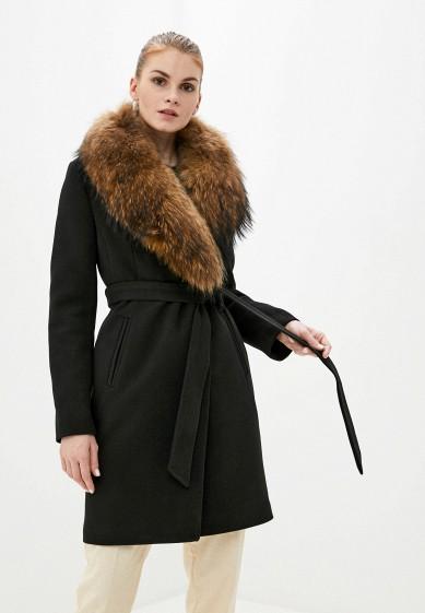 Пальто, Karolina, цвет: черный. Артикул: MP002XW0HFUO. Одежда / Верхняя одежда / Пальто / Зимние пальто
