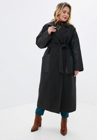 Пальто, Gamelia, цвет: серый. Артикул: MP002XW0HGVP. Одежда / Верхняя одежда / Пальто / Зимние пальто