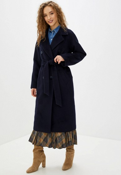Пальто, Wolfstore, цвет: синий. Артикул: MP002XW0HGXX. Одежда / Верхняя одежда / Пальто / Зимние пальто