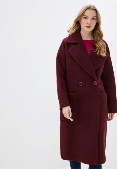Пальто, Vamponi, цвет: бордовый. Артикул: MP002XW0HK7A. Одежда / Верхняя одежда / Пальто / Зимние пальто