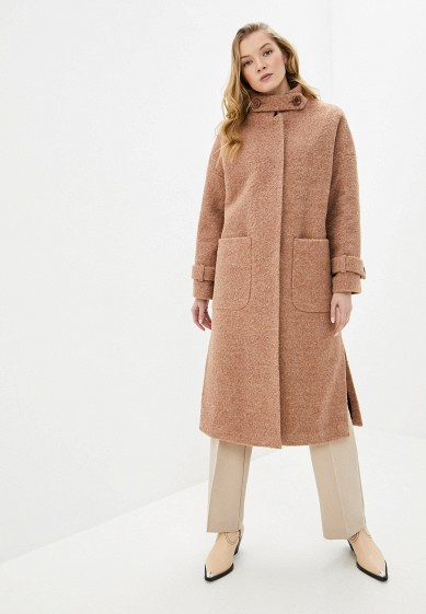 Пальто, Vamponi, цвет: бежевый. Артикул: MP002XW0HK7G. Одежда / Верхняя одежда / Пальто / Зимние пальто