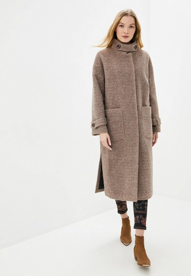 Пальто, Vamponi, цвет: коричневый. Артикул: MP002XW0HK7H. Одежда / Верхняя одежда / Пальто / Зимние пальто