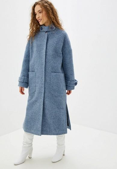 Пальто, Vamponi, цвет: голубой. Артикул: MP002XW0HK7J. Одежда / Верхняя одежда / Пальто / Зимние пальто