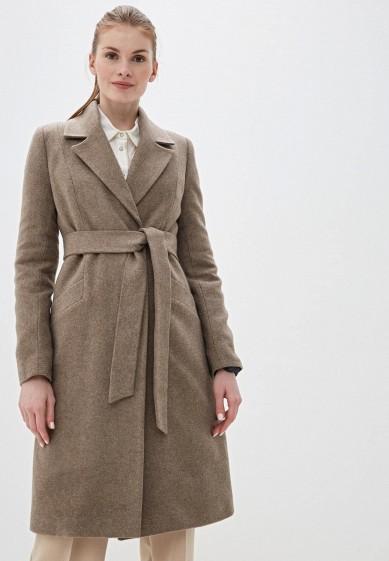 Пальто, Karolina, цвет: бежевый. Артикул: MP002XW0HKKX. Одежда / Верхняя одежда / Пальто / Зимние пальто