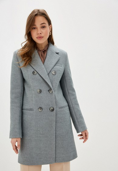 Пальто, Theone by Svetlana Ermak, цвет: голубой. Артикул: MP002XW0HPYP. Одежда / Верхняя одежда / Пальто / Зимние пальто