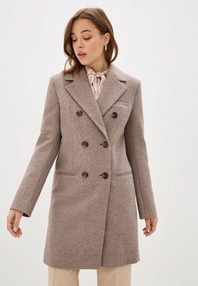 Пальто, Theone by Svetlana Ermak, цвет: коричневый. Артикул: MP002XW0HPYR. Одежда / Верхняя одежда / Пальто / Зимние пальто
