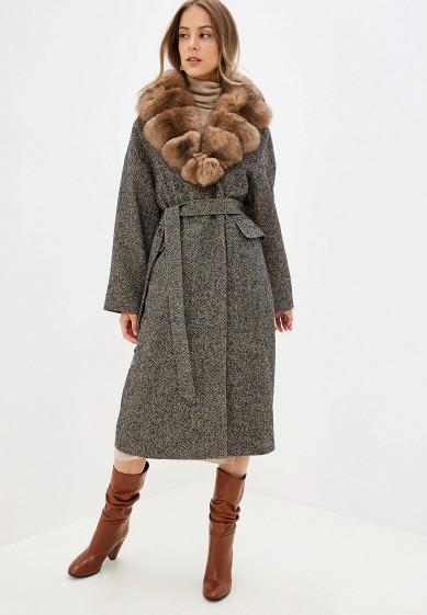 Пальто, Lanicka, цвет: серый. Артикул: MP002XW0IB3E. Одежда / Верхняя одежда / Пальто / Зимние пальто