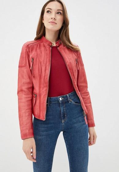 Куртка кожаная, Blue Monkey, цвет: розовый. Артикул: MP002XW0IXLJ. Одежда / Верхняя одежда / Кожаные куртки