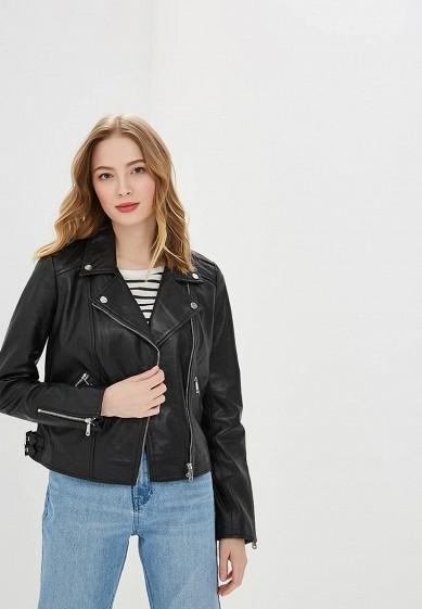 Куртка, La Reine Blanche, цвет: черный. Артикул: MP002XW0N3HJ. Одежда / Верхняя одежда / Кожаные куртки