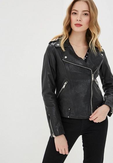 Куртка, La Reine Blanche, цвет: черный. Артикул: MP002XW0N3HK. Одежда / Верхняя одежда / Кожаные куртки