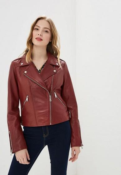 Куртка, La Reine Blanche, цвет: бордовый. Артикул: MP002XW0N3JH. Одежда / Верхняя одежда / Кожаные куртки