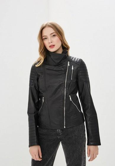 Куртка, La Reine Blanche, цвет: черный. Артикул: MP002XW0N3JI. Одежда / Верхняя одежда / Кожаные куртки