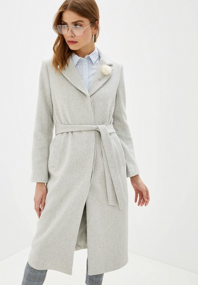 Пальто, Zarina, цвет: серый. Артикул: MP002XW0R78U. Одежда / Верхняя одежда / Пальто