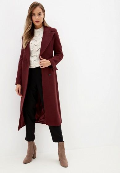 Пальто, Vivaldi, цвет: бордовый. Артикул: MP002XW0RDH2. Одежда / Верхняя одежда / Пальто