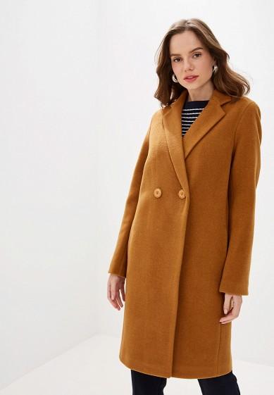 Пальто, Karolina, цвет: коричневый. Артикул: MP002XW0RDHT. Одежда / Верхняя одежда / Пальто