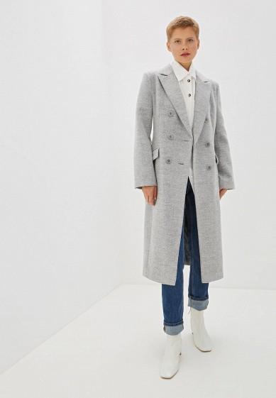 Пальто, Ovelli, цвет: серый. Артикул: MP002XW0RFHT. Одежда / Верхняя одежда / Пальто