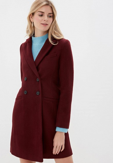 Пальто, Befree, цвет: бордовый. Артикул: MP002XW0RJOG. Одежда / Верхняя одежда / Пальто