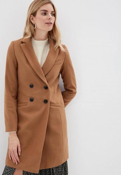 Пальто, Befree, цвет: коричневый. Артикул: MP002XW0RJOI. Одежда / Верхняя одежда / Пальто