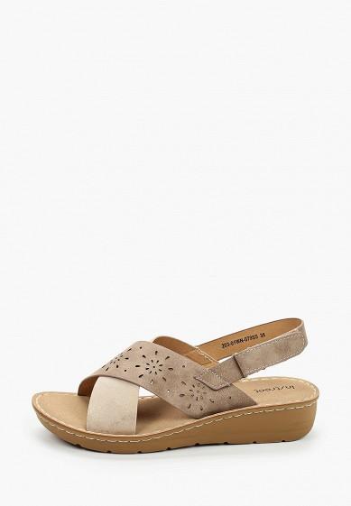 Сандалии, Instreet, цвет: коричневый. Артикул: MP002XW106BV. Обувь