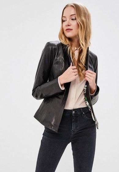 Куртка кожаная, Grafinia, цвет: черный. Артикул: MP002XW13UZG. Одежда / Верхняя одежда / Кожаные куртки