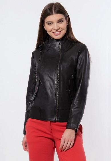Куртка кожаная, Finn Flare, цвет: черный. Артикул: MP002XW13VSA. Одежда / Верхняя одежда / Кожаные куртки