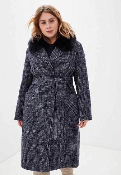 Пальто, Electrastyle, цвет: синий. Артикул: MP002XW15EML. Одежда / Верхняя одежда / Пальто / Зимние пальто