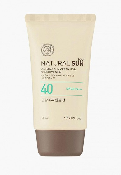Крем солнцезащитный Thefaceshop NATURAL SUN ECO CALMING SENSITIVE SUN SPF40 PA+++
