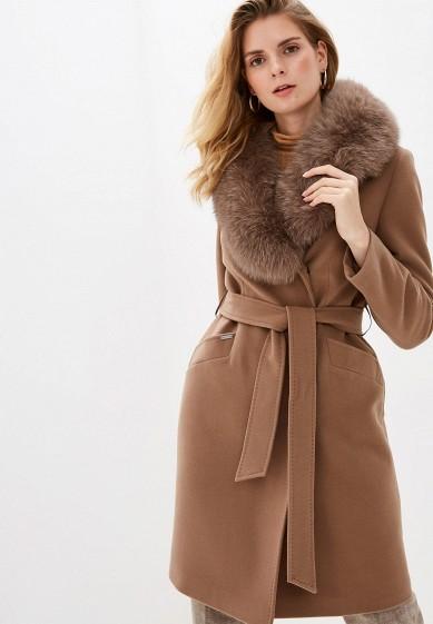 Пальто, Almarosa, цвет: коричневый. Артикул: MP002XW1BX3W. Одежда / Верхняя одежда / Пальто / Зимние пальто