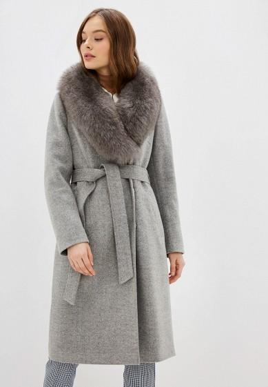 Пальто, Almarosa, цвет: серый. Артикул: MP002XW1BX3Y. Одежда / Верхняя одежда / Пальто / Зимние пальто