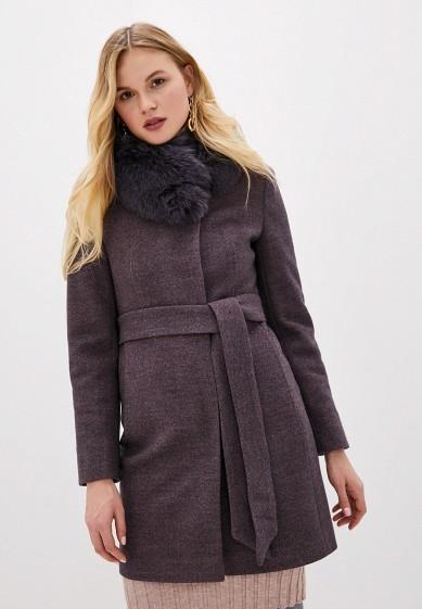 Пальто, Giulia Rosetti, цвет: фиолетовый. Артикул: MP002XW1BX9T. Одежда / Верхняя одежда / Пальто / Зимние пальто