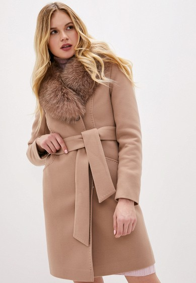 Пальто, Giulia Rosetti, цвет: бежевый. Артикул: MP002XW1BXAA. Одежда / Верхняя одежда / Пальто / Зимние пальто