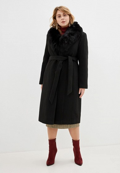 Пальто, Giulia Rosetti, цвет: черный. Артикул: MP002XW1BXAI. Одежда / Верхняя одежда / Пальто / Зимние пальто