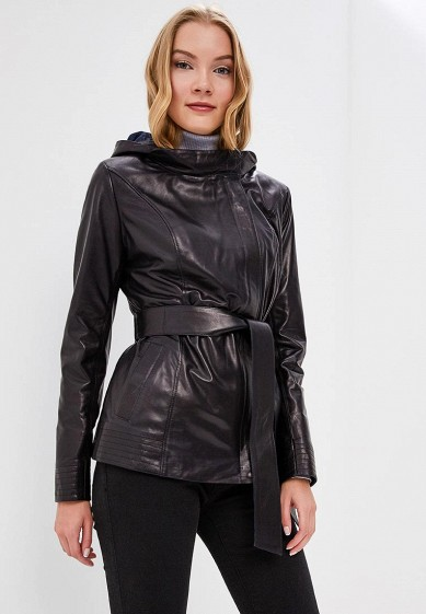 Куртка кожаная, Grafinia, цвет: черный. Артикул: MP002XW1F7TF. Одежда / Верхняя одежда / Кожаные куртки