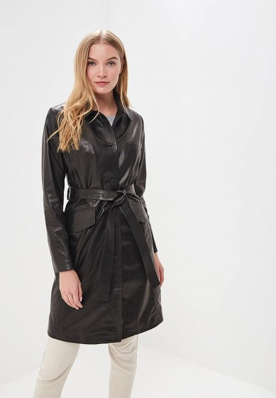 Плащ, Grafinia, цвет: черный. Артикул: MP002XW1F7TM. Одежда / Верхняя одежда / Кожаные куртки