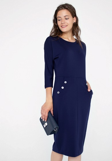 Платье, Eliseeva Olesya, цвет: синий. Артикул: MP002XW1GMQF. Одежда / Платья и сарафаны