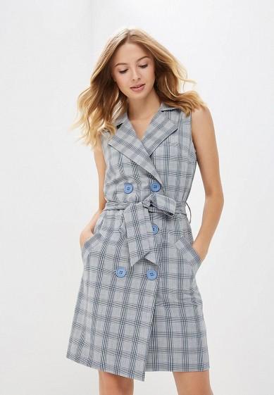 Платье, Bezko, цвет: серый. Артикул: MP002XW1GPLQ. Одежда / Платья и сарафаны