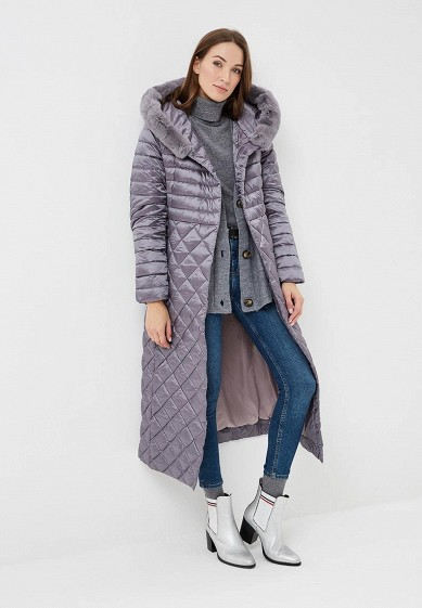 Пуховик, Conso Wear, цвет: фиолетовый. Артикул: MP002XW1H3W8. Одежда / Верхняя одежда