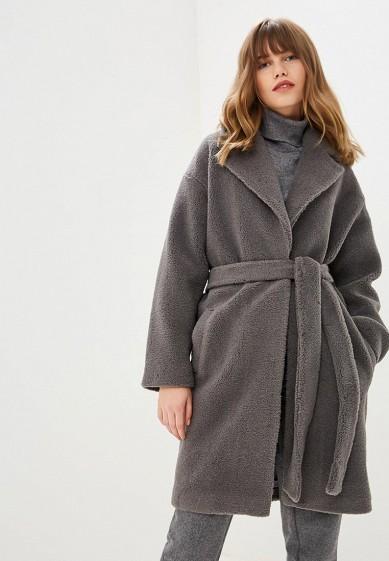Пальто, Fashion.Love.Story, цвет: серый. Артикул: MP002XW1H4D7. Одежда / Верхняя одежда / Пальто