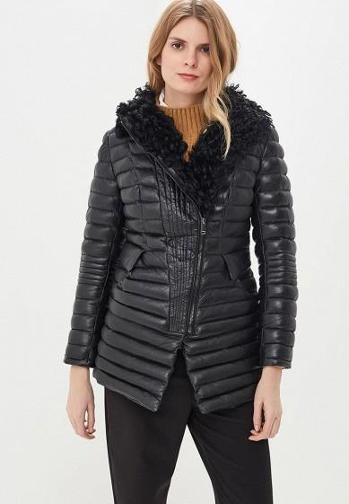 Куртка кожаная, La Reine Blanche, цвет: черный. Артикул: MP002XW1H9B1. Одежда / Верхняя одежда / Кожаные куртки