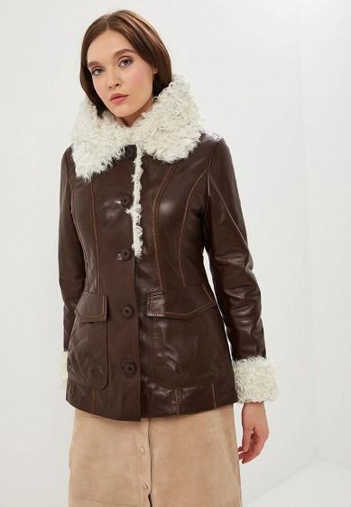 Куртка кожаная, Grafinia, цвет: коричневый. Артикул: MP002XW1HCSX. Одежда / Верхняя одежда / Кожаные куртки