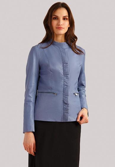 Куртка кожаная, Finn Flare, цвет: голубой. Артикул: MP002XW1IJI3. Одежда / Верхняя одежда / Кожаные куртки